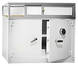 Tradeshow Safe with Display Case