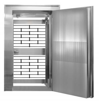 Vault Door with Grill Gate