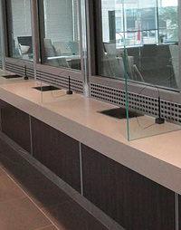bullet resistant door, kevlar armor panels, bullet resistant transaction windows, bullet resistant glass windows